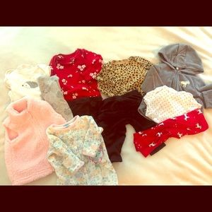 EUC 3-6 month girl Fall or Winter bundle
